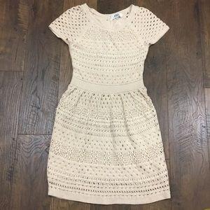 Tibi New York cream crochet sweater dress